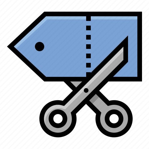 budget, cut, discount, price, scissors icon