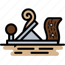 carpenter, plane, wood, wood working icon