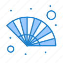 fan, gras, hand, wind icon