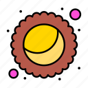gras, mardi, moon, pie icon