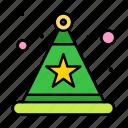 celebration, hat, star icon