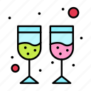 drink, glass, wine icon