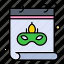 calendar, date, mask icon