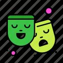 drama, film, mask, theatre icon