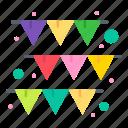 festival, garland, paper icon