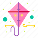 gras, kite, mardi, spring icon