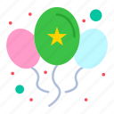 balloons, celebrate, day, party icon