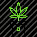 cannabis, marijuana, plant, pot, weed icon