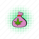 bag, cannabis, comics, hemp, marijuana, medicinal, weed icon