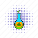 chemical, chemistry, comics, flask, glass, marijuana, medicine icon