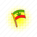 cannabis, comics, flag, jamaica, leaf, rastafarian, red icon