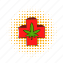 cannabis, comics, cross, ganja, grass, legal, weed icon