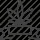 cannabis, marijuana, reward icon