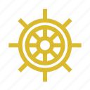 boat, helm, marine, sea icon