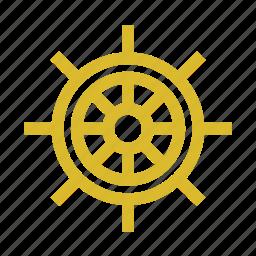 boat, helm, marine, sea icon