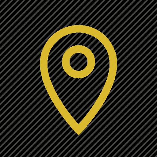 lacation, marine, navigation, pin icon