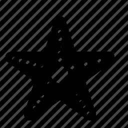 animal, marine, nautical, sea, starfish icon