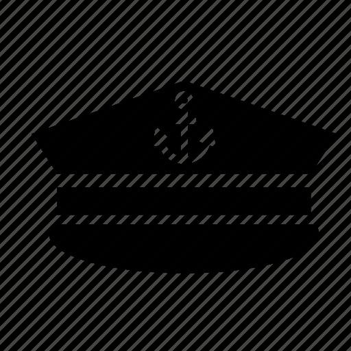 cap, capitan, hat, marine, nautical, sailor, sea icon