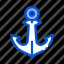 anchor, boat, sea, ship