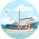 boat, sailing, shipping, transport, vessel icon