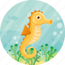 animal, sea, seahorse, summer, travel icon