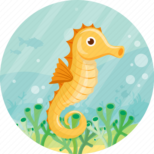 animal, sea, seahorse, summer, travel icon