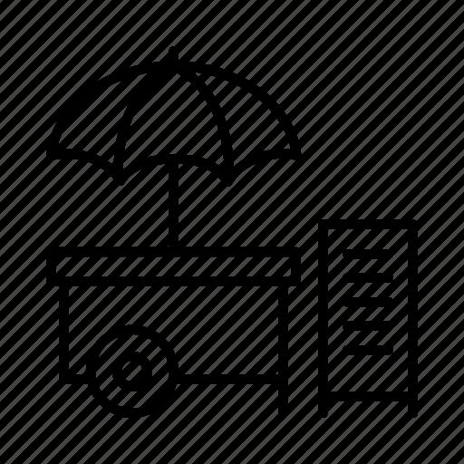 food, market, retail, shop, stall, street vendor, vendor icon