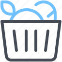 basket, bake, bread, food, fruit icon