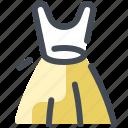 dress, clothing, woman, skirt icon