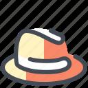 hat, felt, gangster, headwear, trilby icon