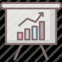 analysis graph, analyzing marketing, business intelligence, competitive market icon