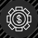 and, economics, making, market, money icon