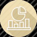 analytics, and, economics, market icon