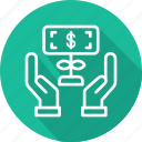 and, economics, growth, market, money icon