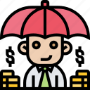 funds, protection, insurance, cover, umbrella