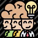 market, brainstorm, idea, teamwork, developer