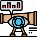 market, vision, spyglass, data, observation