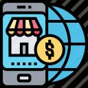 online, market, smartphone, international, commercial