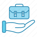 bag, briefcase, case, finance, job, market & economics, office icon