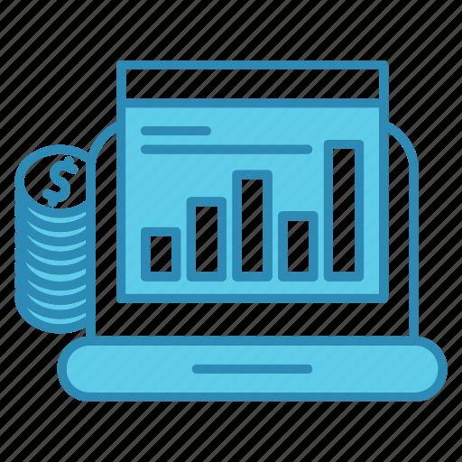 budget, chart, device, diagram, report, statistics icon