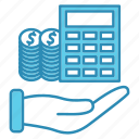 budget, business, calculator, market & economics, money icon