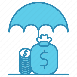 funds, market & economics, money, protection, save icon