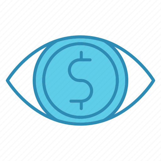 eye, finance, market, market & economics, marketing, vision icon