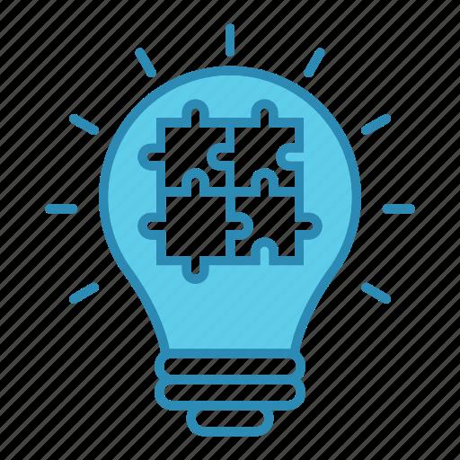 idea, light, market & economics, marketing, puzzel, seo icon