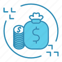 cash, dollar, finance, flow, market & economics, money icon