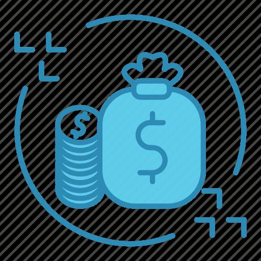 cash, dollar, finance, flow, market & economics, money icon