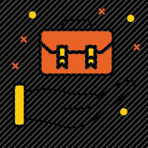 bag, briefcase, case, finance, job, market & economics, office icon