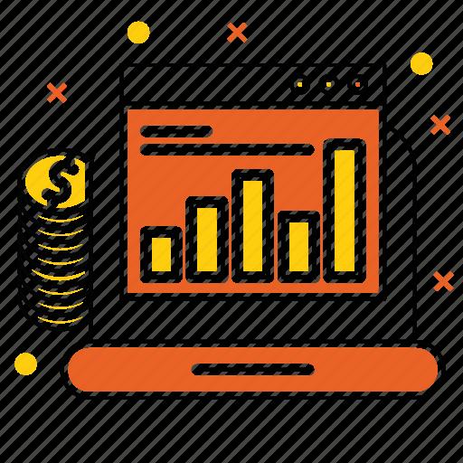 budget, chart, device, diagram, market & economics, report icon