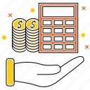 budget, business, calculator, market & economics, money, planning, project icon