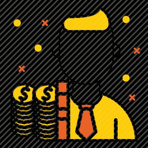 avatar, costs, employee, invest, market & economics, money icon